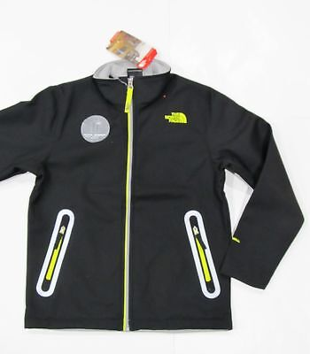 New with tag The North Face Boys Black Apex Bionic Fleece Windwall Jacket L XL