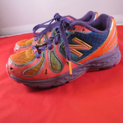 wholesale dealer a7c3d ecb92 Kids NEW BALANCE 890 V3 Purple Orange Pink Blue Running Sneakers Kids Sz. 12