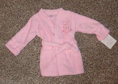 Carter's Baby Girls Pink TerryCloth Bathroom Bunny Rabbit Size 0-9 Months NWT