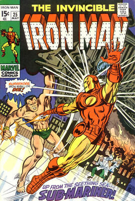 IRON MAN #25 F, The Invincible, vs. Sub-Mariner, Marvel Comics 1970