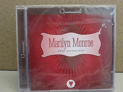 MARILYN MONROE- Quintessential Best Recordings CD NEW 2002 The Greatest Hits of