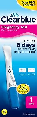 Clearblue Pregnancy Test Early Detection 6 Days Testing Stick Kit 1 Test