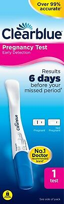 Clearblue Pregnancy Test Early Detection Testing Stick Kit 1 Test