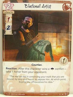 Legend of the Five Rings LCG - 1x #098 Blackmail Artist - Base Set