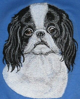 Embroidered Ladies Short-Sleeved T-Shirt - Japanese Chin BT3586