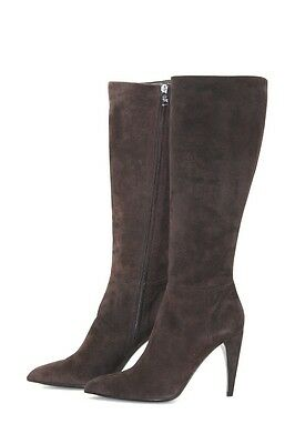 Authentic Luxury Prada Suede Boots Shoes 1W9391 Brown New Us 7 Eu 37 37,5 59588b5dc50