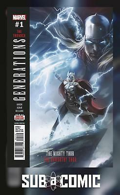 GENERATIONS UNWORTHY THOR & MIGHTY THOR #1 MATTINA (MARVEL 2017 2nd Print) COMIC