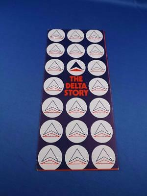 The Delta Store Airline Advertising Brochure Airplane Travel Route System Jets