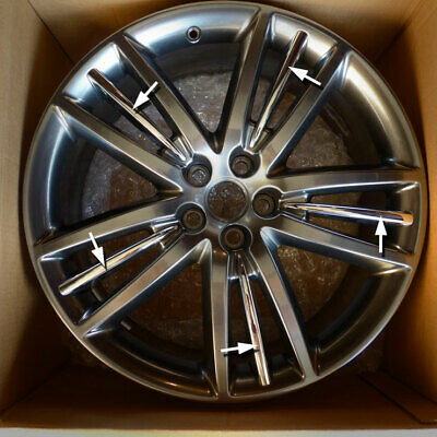 Jaguar Selena Chrome Alloy Wheel Insert x 20 XF XJ XK Selina