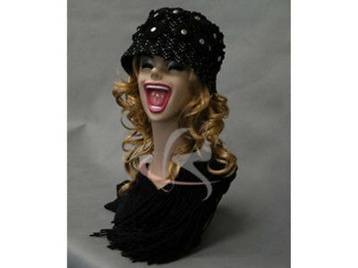 Female Mannequin Head Bust Vintage Wig Hat Jewelry Display #MD-Y5LE