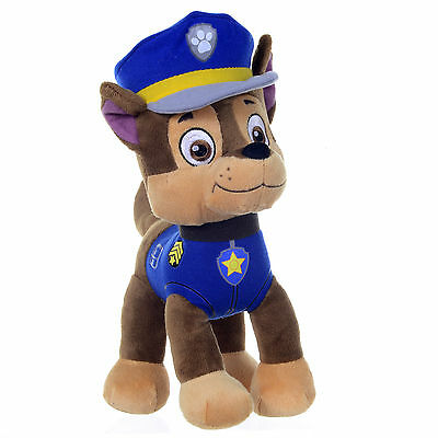 "New Official 12"" Paw Patrol Chase Pup Plush Soft Toy Nickelodeon Dogs"