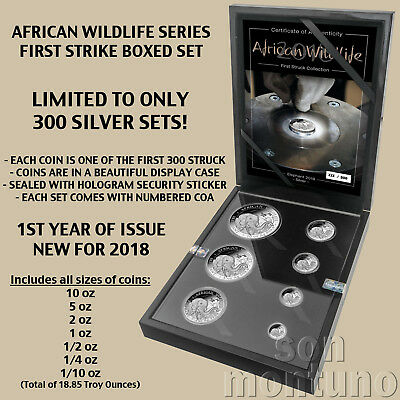 AFRICAN WILDLIFE - First Strike SILVER Coin Set - 2018 Somalia Elephant ONLY 300