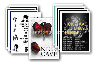 NICK CAVE  - 10 promotional posters - collectable postcard set # 2
