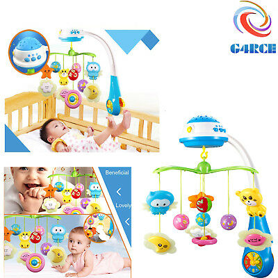 G4RCE Baby Musical Cot Bed Toy Newborn Mobile Projection Crib Light Pram Toys UK