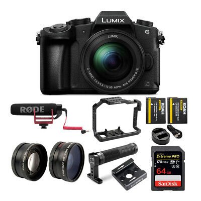 PANASONIC LUMIX G85 4K Mirrorless, 12-60mm Power O.I.S Lens + Video Cage Bundle