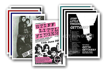 STIFF LITTLE FINGERS  - 10 promotional posters  collectable postcard set # 2