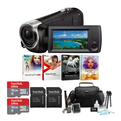 Sony HDRCX405 HD Video Handycam with Two 16GB Cards and Corel Software Bundle