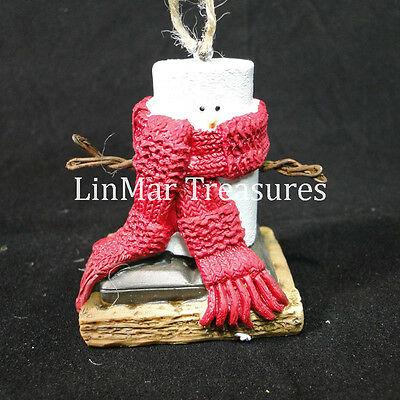 S'mores Wearing Red Scarf Ornament Smores Scarf Ornament Midwest CBK