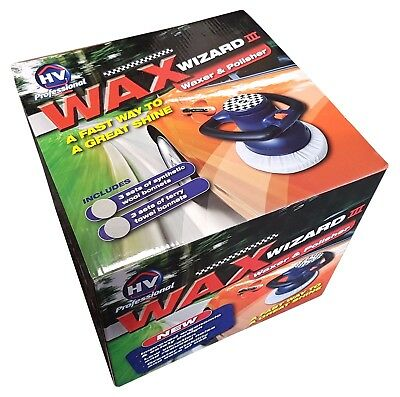 Wax Wizard III - Orbital Waxer & Polisher - Inc. 3 x Wool & Terry Towel Bonnets