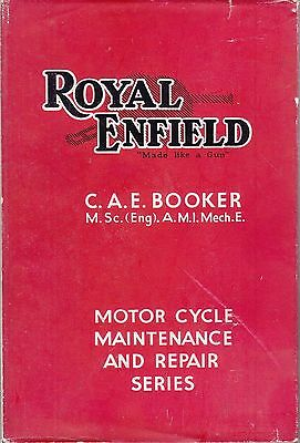 Pearsons ~ ROYAL ENFIELD Maintenance & Repair All Models ~ Booker ~ 2nd HB 1950