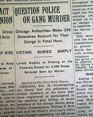 St Valentine S Day Massacre Al Capone Moran Chicago Gangster War