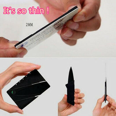Black Folding Cardsharp Credit Card Razor Sharp Wallet Carton Knife Survival CA