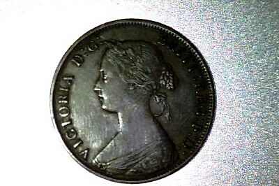 Canada, Queen Victoria, XF+ , New Brunswick  1861 Large Cent #Q043
