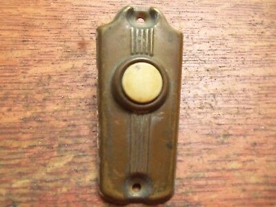 Antique Vintage Mid-Century Retro Brass & Bakelite Button