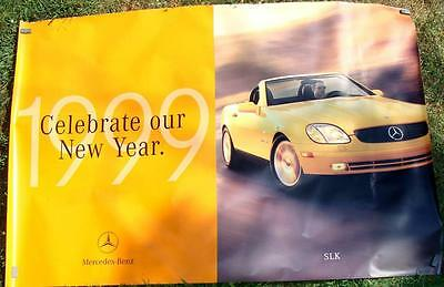 Vintage 1999 Mercedes Benz GIANT 6 foot Dealer Promo Poster SLK Convertible