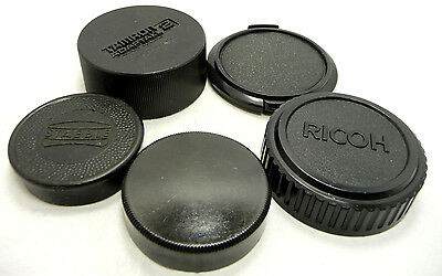 NICE USED FIVE  MIXED  LENS CAPS and REAR CAPS