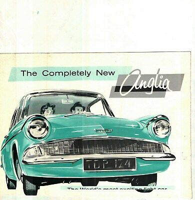 1960 Ford Anglia Color Sales Brochure - Germany