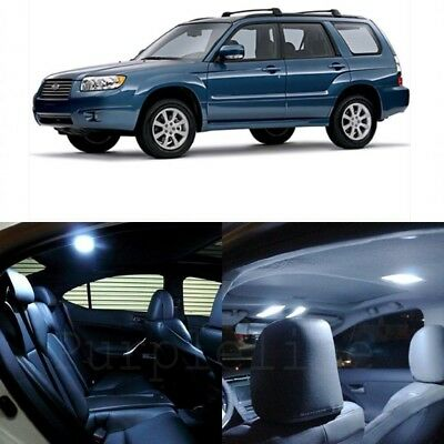 10 White LED Interior Lights Package For 1998 - 2013 Subaru Forester + Pry TOOL