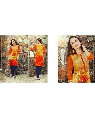 Bollywood Indian Kurta Designer Women Ethnic New Dress Top Tunic Pakistani Kurti