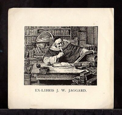 BOOK PLATE/Ex Libris ~  J. W. JAGGARD ~ Early