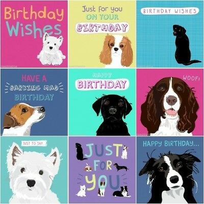 Dogs Trust Charity Waggy Tails Dog Birthday Card Lovers