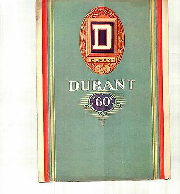 "1929 Durant ""60"" Color Sales Brochure"
