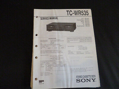 original service manual sony tc wr99es wr990 eur 12 50 picclick fr rh picclick fr Sony Cassette Deck TC-WE475 Sony TC Wr535
