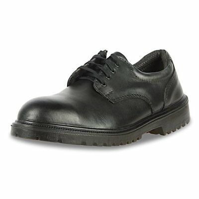 "New Kings Executive Oxford 3"" Leather Steel Toe Safety Work Shoes 8-13 Free Ship"