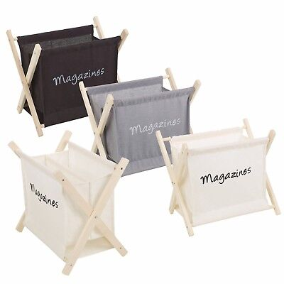 Wooden Magazine Newspaper Rack Holder Organiser Floor Stand Office Storage NEW