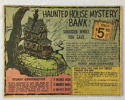 1967 toy ad ~ HAUNTED HOUSE MYSTERY BANK