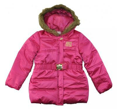 Juicy Couture Big Girls Fuchsia Puffer Coat Size 7 8/10 12 $125