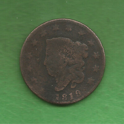 1819 Matron Head, Large Cent, Small Date - 198 Years Old!!!