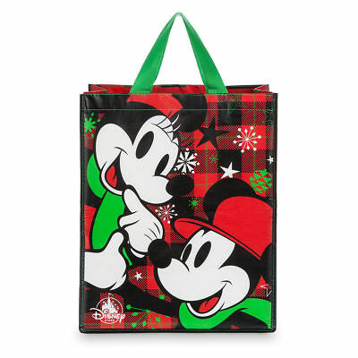 New Disney Store Parks Mickey & Friends Christmas Holiday Tote Bag Reusable 2017