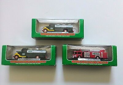HESS MINIATURE TRUCKS LOT OF 3 2000 first truck 1999 fire