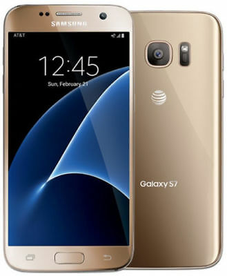 "New Samsung Galaxy S7 G930a AT&T Unlocked 32GB Android Smartphone 5.1"" 12MP Gold"