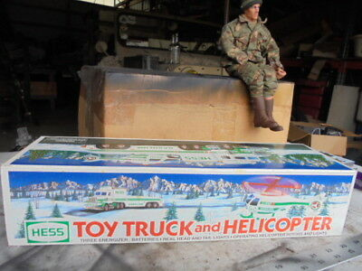 1995 Hess Toy Truck With Helicopter New In Box