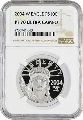 2004 W $100 Proof Platinum American Eagle NGC PF70 Ultra Cameo