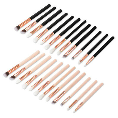 12pcs Eye Makeup Brushes Set Eyeshadow Concealer Eyeliner Blending Eyebrow Brush