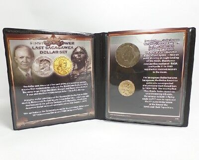 First Commemorative Mint First 1971 Eisenhower & Last 2008 Sacagawea Dollar Set