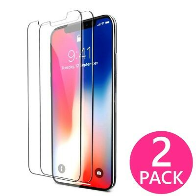 2X Premium HD Clear Tempered Glass Screen Protector Guard for iphone X 10 Ten